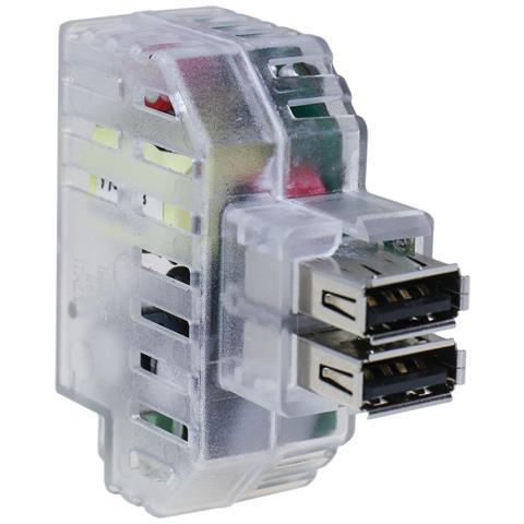 FME IPW-USB-242T - Alimentatore 2xUSB 2,4A da incasso con attacco Keystone