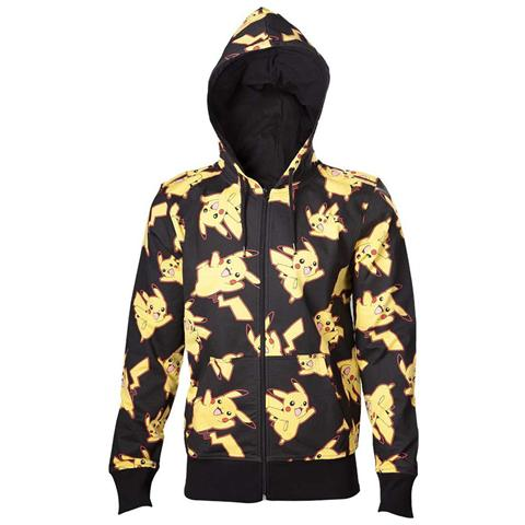 BIOWORLD Pokemon - Pikachu All Over Print (Felpa Con Cappuccio Unisex Tg. L)