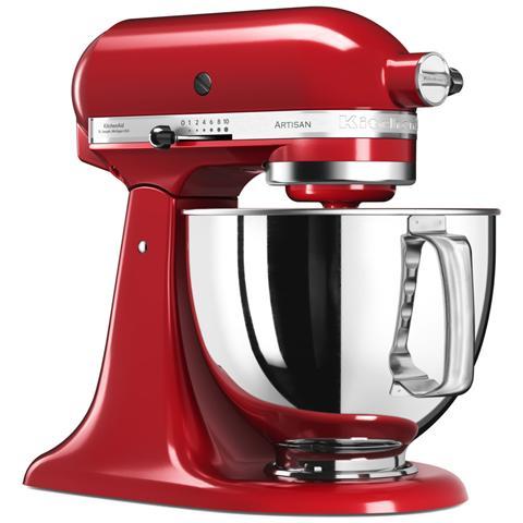 5KSM125EER Robot da Cucina Potenza 300 Watt Capacità Ciotola 4,8 Litri Colore Rosso