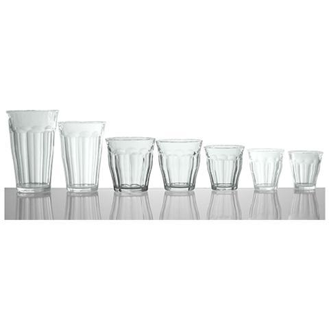 Set 12 X 4 Bicchieri In Vetro Picardie Cl25