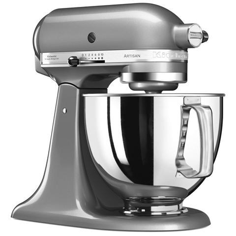 5KSM125ECU Robot da Cucina 4 Accessori Inclusi Potenza 300 Watt Capacità Ciotola 4,8 Litri Colore Argento Medaglia