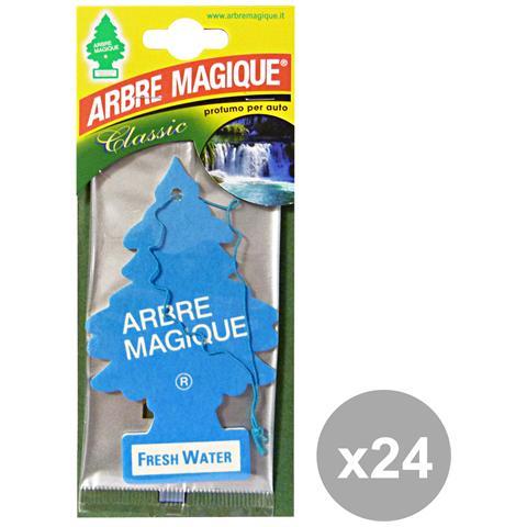Arbre Magique Set 24 Deodorante Fresh Water Accessori Auto E Moto