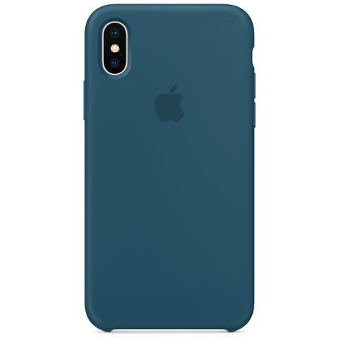 APPLE Cover per iPhone X Colore Blu Cosmo