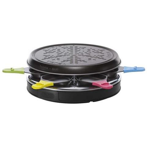Re123812 - Grill Per Raclette, 6 Padelline, 850 W, Colore Nero