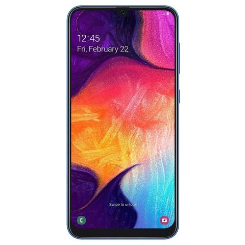 Image of Galaxy A50 Blu Dual Sim Display 6.4'' Full HD+ Octa Core Ram 4GB Storage 128GB +Slot Micro SD Wi-Fi +4G Lte Fotocamera 25Mp Android - Tim Italia