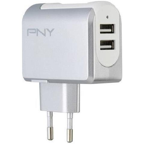 PNY Fast Dual-usb Eu Wall-charger 2-usb-ports 17w