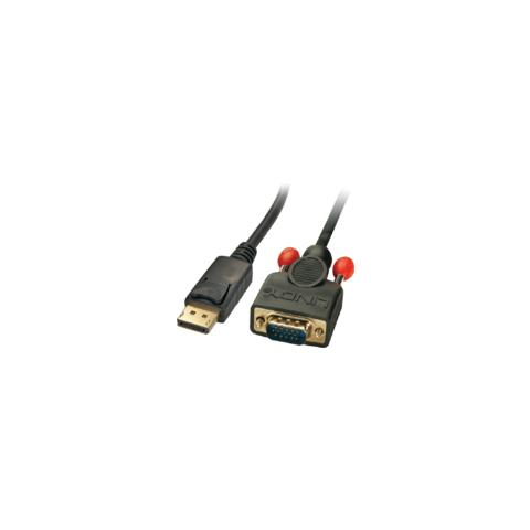 MICROCONNECT DP-VGA-MM-100, DisplayPort, VGA (D-Sub) , Maschio, Maschio, Oro, Nero