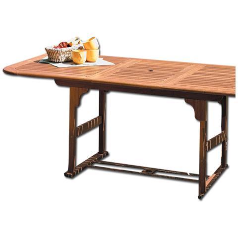 Tavolo da esterno in legno con finitura ad olio cm120/160 x 90 x 75h