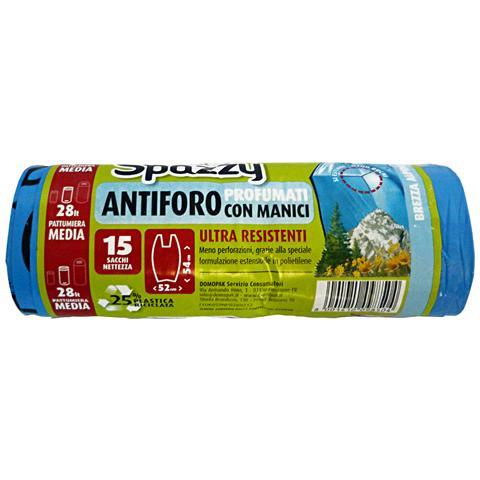 Spazzy Sacchi 52x54 Antiforo Con Maniglie Brezza Alpina X 15 Pezzi Riordino