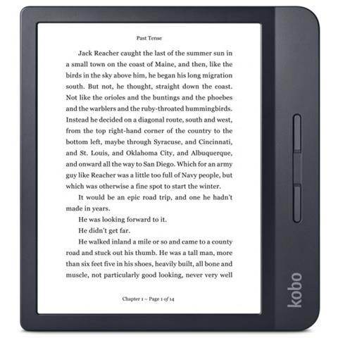 Lettore E-Book 7'' Libra H2O Touch Screen HD 8GB Wi-Fi Impermeabile Colore Nero