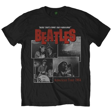 ROCK OFF Beatles (The) - Here They Come Black (T-Shirt Unisex Tg. S)