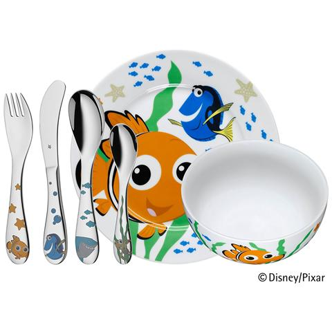 WMF Set Posate Disney Nemo Per Bambini 6 Pezzi Acciaio Inox Cromargan 18/10