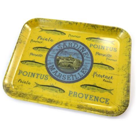 Les Trésors De Lily piccolo vassoio 'sardines de marseille' giallo blu (15x20 cm) - [ n5505]