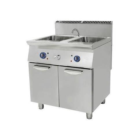 Cuocipasta ELETTRICO 2 vasche lt. 40+40. 80x90x85H - 20 Kw.