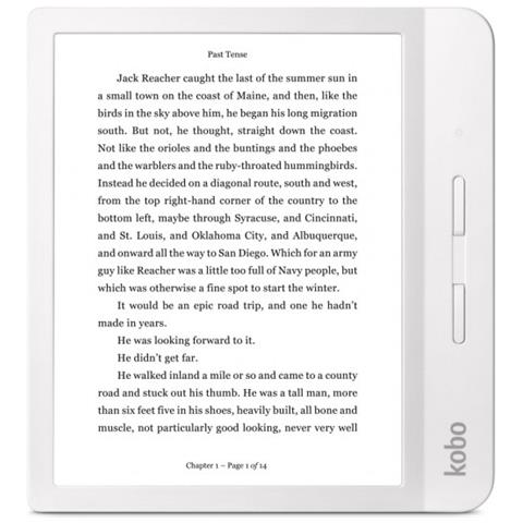 Lettore E-Book 7'' Libra H2O Touch Screen HD 8GB Wi-Fi Impermeabile Colore Bianco