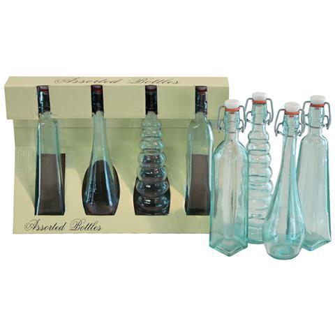 Bottiglie in Vetro 4 Pezzi