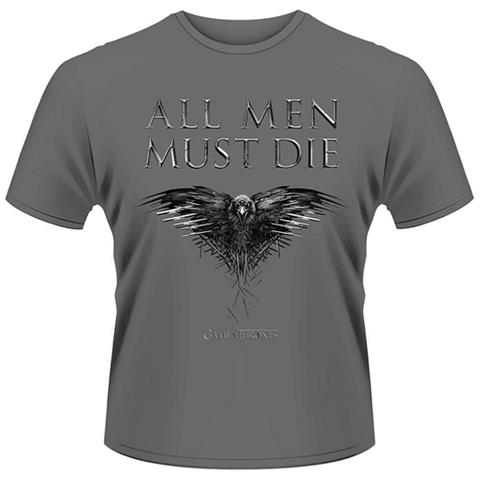 PLASTIC HEAD Game Of Thrones - All Men Must Die (T-Shirt Unisex Tg. M)