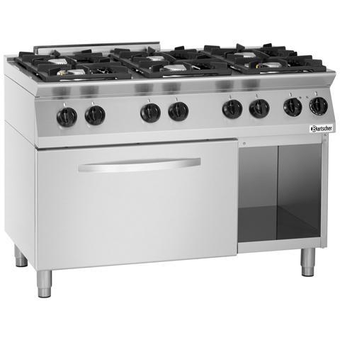 1582201 Cucina a Gas 6 fuochi con Forno elettrico GN2/1