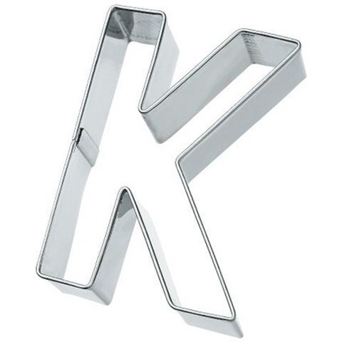 Tagliapasta Lettera K In Metallo 6 Cm