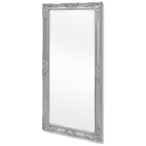 vidaXL - Specchio Da Parete Stile Barocco 120x60 Cm Argentato - ePRICE
