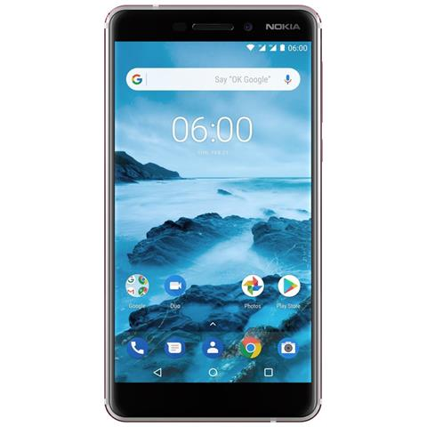 "NOKIA N6 (2018) Bianco 32 GB 4G / LTE Dual Sim Display 5.5"" IPS Slot Micro SD Fotocamera 16 Mpx Android Europa"