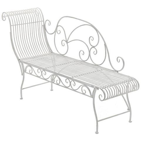 Panchina Chaiselounge Stile Romantico Cp452 156cm ~ Colore Bianco Antico