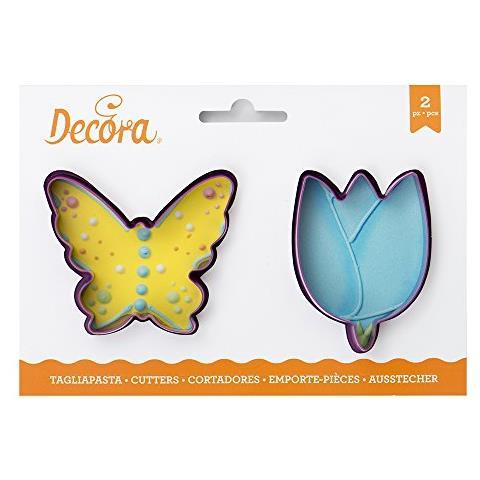 Set Due Tagliapasta Biscotti Farfalla Fiore 8cm