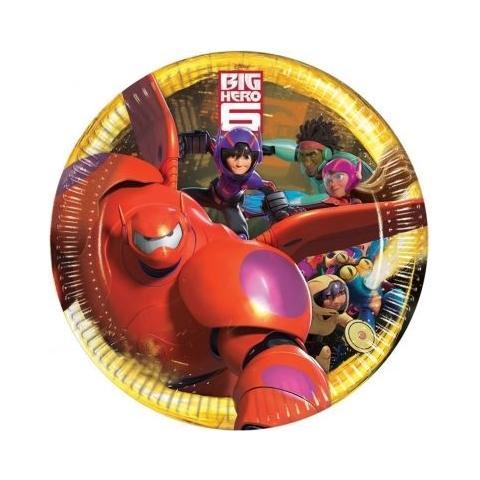 COMO GIOCHI Big Hero 6 - 8 Piatti 23 Cm