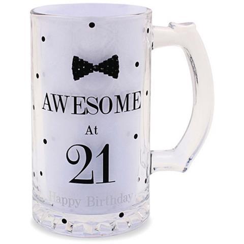 Lesser Pavey Boccale Da Birra A Pois Per Compleanno (scritte In Inglese) (taglia Unica) (awesome At 21)