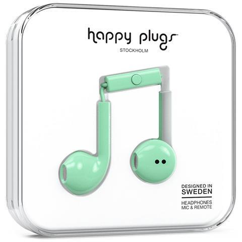 HAPPY PLUGS Earbud Plus Auricolare Stereofonico Cablato Verde auricolare per telefono cellulare