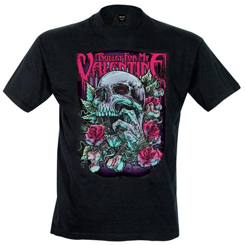Rock Off Retail Limited Bullet For My Valentine - Skull Red Eyes (T-Shirt Unisex Tg. S)