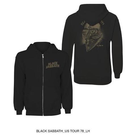 ROCK OFF Black Sabbath - Tour 78' (Felpa Con Cappuccio Unisex Tg. L)