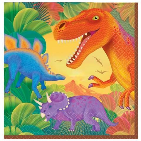 Dinosauri Tovaglioli Carta Dinosauri, Festa Compleanno Bambino *20319