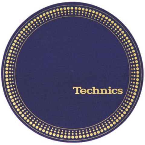 Zomo Coppia Feltri Panni Antistatici Giradischi Slipmats Technics Strobo Blue / Gold