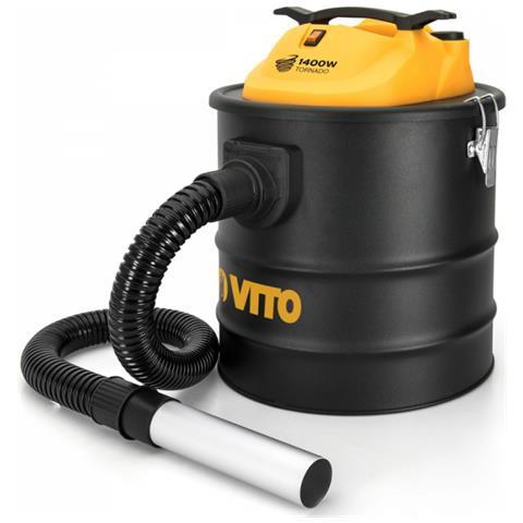 Aspirapolvere Vito Tornado 1400w Da 18l, Filtro Hepa, Ideale Per Le Ceneri Dei Barbecues, Stufe E Caminetti, Fino A 50° C