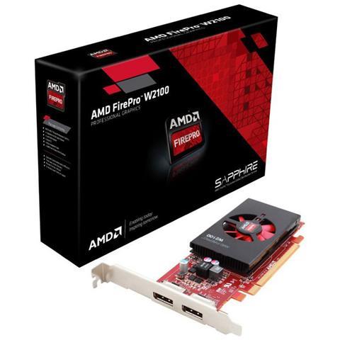 Image of AMD FirePro W2100 2GB GDDR3 PCI Express 3.0 x16 2x Display Port
