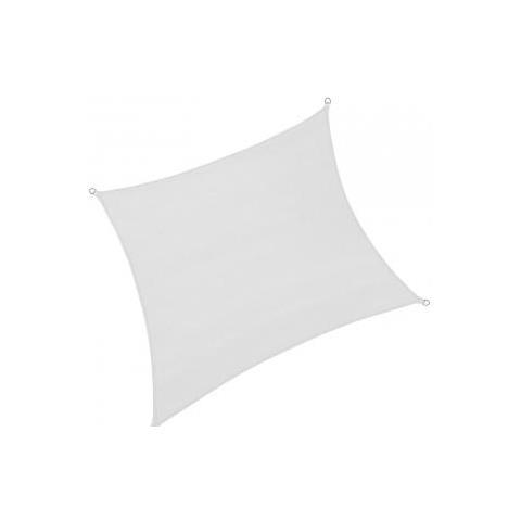 Tenda Parasole Quadrata 3.6x3.6 Metri Bianco