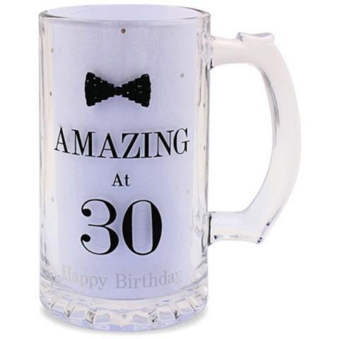 Lesser Pavey Boccale Da Birra A Pois Per Compleanno (scritte In Inglese) (taglia Unica) (amazing At 30)