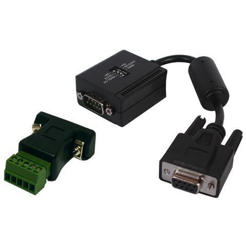 EXSYS EX-47900IS RS-232 RS-422/485 Nero cavo di interfaccia e adattatore