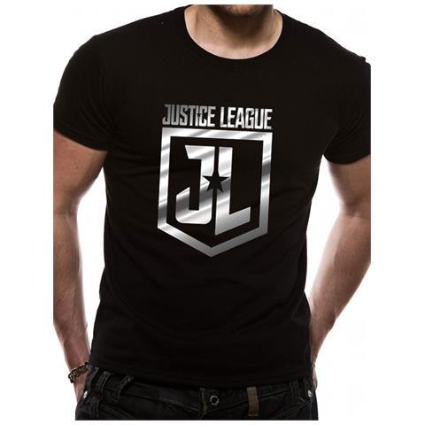 CID Justice League Movie - Foil Logo (T-Shirt Unisex Tg. L)
