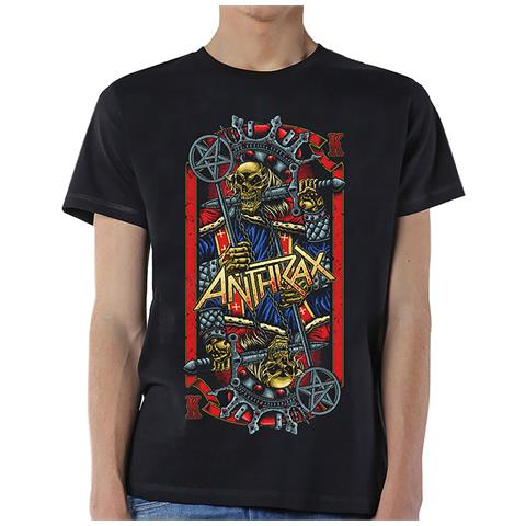 ROCK OFF Anthrax - Evil King (T-Shirt Unisex Tg. S)