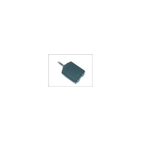 Microconnect AUDALU 3.5mm 2 x 6.3 Nero cavo di interfaccia e adattatore
