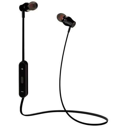 CELLY Auricolari Bluetooth stereo in alluminio metallizzato con cavo anti-aggrovigliamento, telecomando e chiusura magnetica integrati