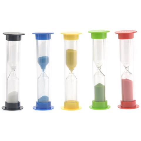 Set Da 5 Clessidre Colorate Da Utilizzare Come Timer Da Cucina