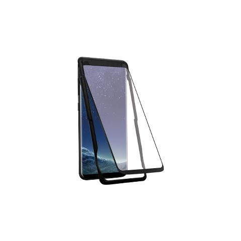 FONEX Pellicola Protettiva Vetro Temperato 3d Curvo Superficie Totalmente Adesiva Per Samsung Galaxy S8 + (1pz) Colore Nero