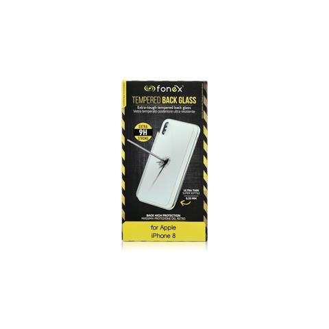 FONEX Protezione Posteriore in Vetro Temperato Durezza 9H Anti-Graffio e Anti-Urto per Apple iPhone 8 (1Pz)