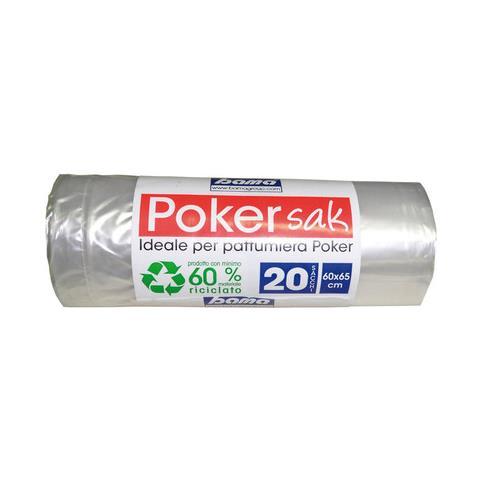 Sacchetto Poker 20 Pezzi Colore Trasparente