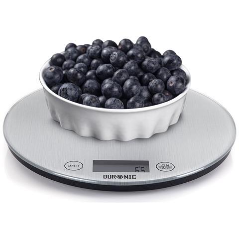 Ks1055 Bilancia Da Cucina Digitale Ultrasottile - Portata 1g / 5 Kg - Alta Precisione - Funzione Tara – Superficie Argentata