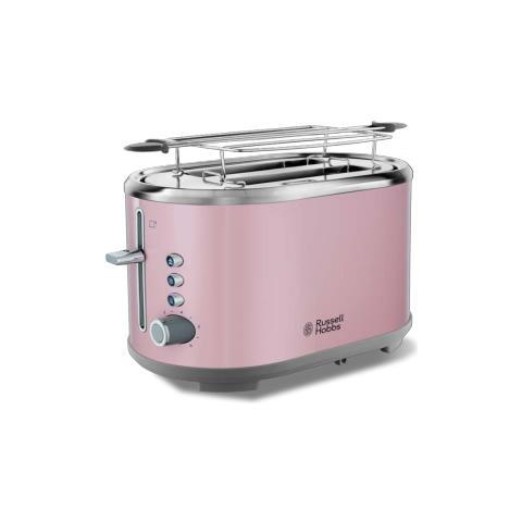 Tostapane Bubble a 2 Fette Potenza 930 W Colore Rosa / Acciaio Inox