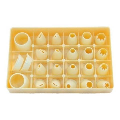 Serie 20 Bocchette + 3 Ghiere Piccole In Plastica